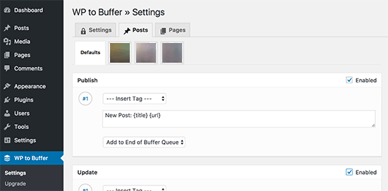 WordPress to Buffer