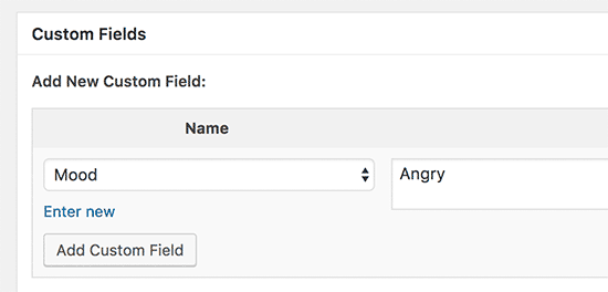 Select and reuse custom field