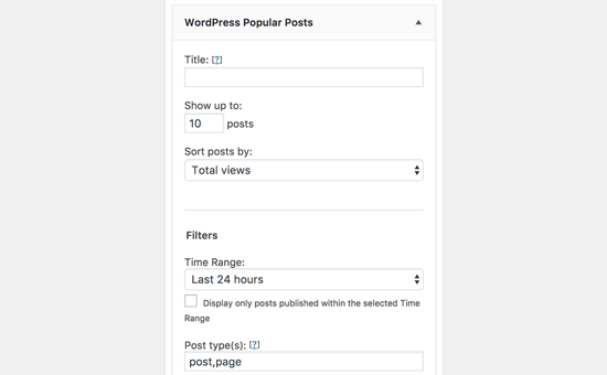 WordPress Popular Posts Widget