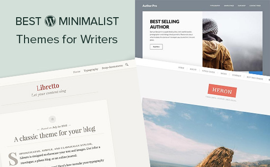 Best minimalist WordPress themes for writers