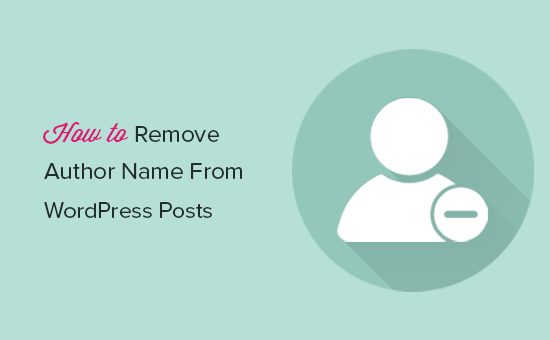 Remove author name from WordPress posts