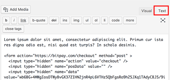 کد را اضافه کنید