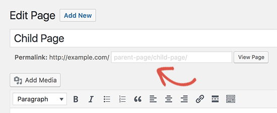 wordpress how to order child pages