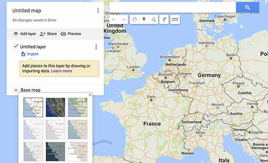 How to Add an Interactive Map in WordPress Google Map Toolbar on google maps tools, google maps bulletin board, google maps grid, google map of asia pacific, google maps full screen, google maps window,