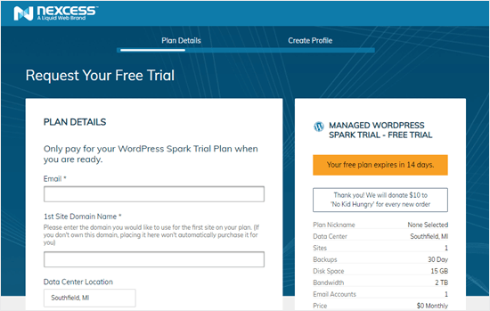 Fill in your details to register for the free trial