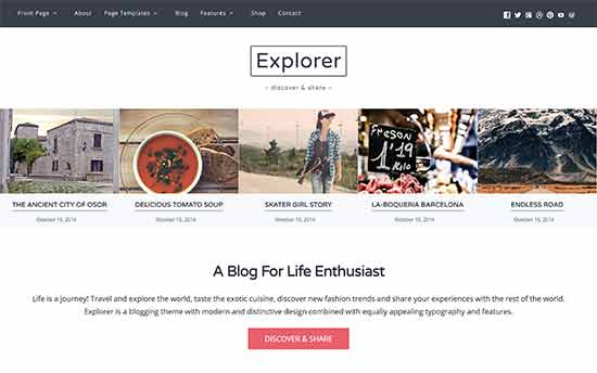 Explorer Best WordPress Multi-purpose Theme