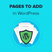 11 Important Pages that Every WordPress Blog Should Have (2019)