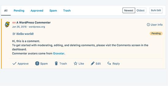 het beheren van opmerkingen in de WordPress desktop-app