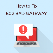 what is 502 bad gateway message