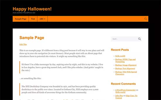 Halloween theme for WordPress