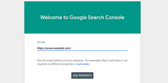 Adding your site to Google Search Console