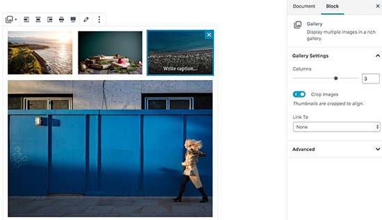 Adding image gallery in new WordPress editor