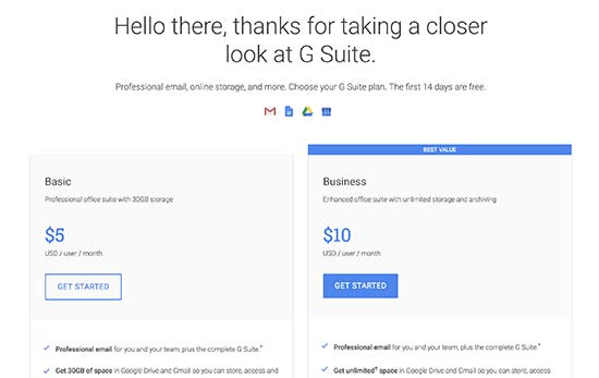 Get started with G Suite