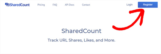 Register for SharedCounts com