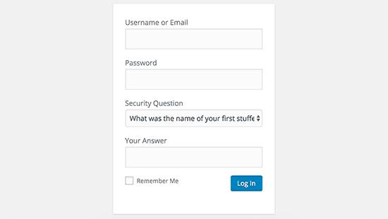 Giriş ekranında güvenlik sorusu ekle