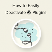 How to Easily Deactivate WordPress Plugins (Beginner's Guide)