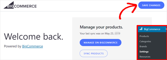 Save Settings BigCommerce for WordPress