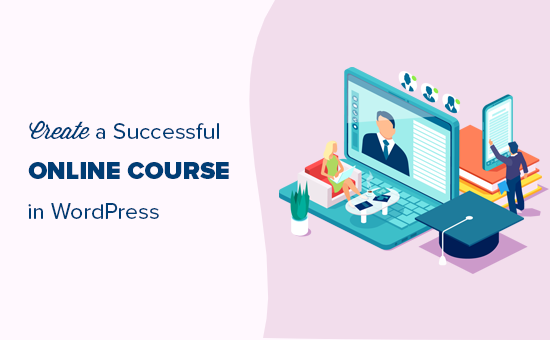 Easily creating an online course in WordPress