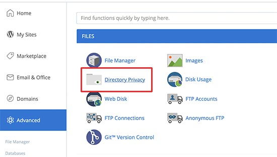 Directory privacy