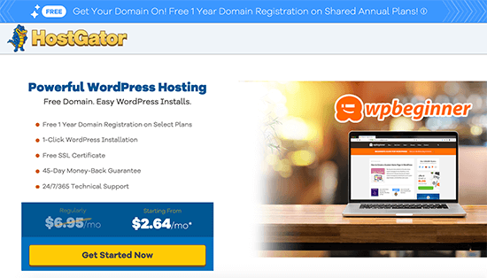 HostGator Special Offer for WPBeginner Readers