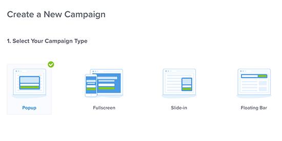 Bir kampanya türü seçin