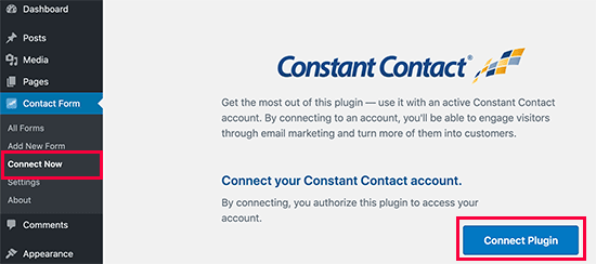 Constant Contact connect
