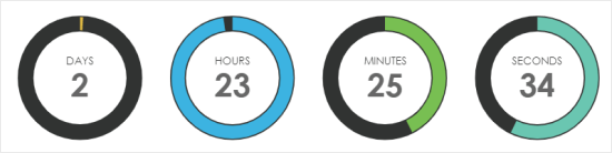 An example timer created with Countdown Timer Ultimate