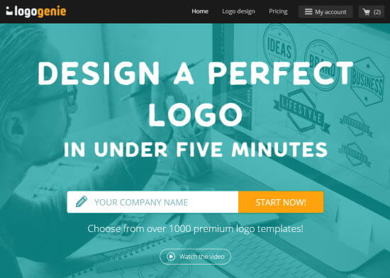 The Logogenie logo maker