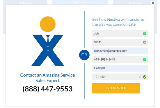 Nextiva personal details