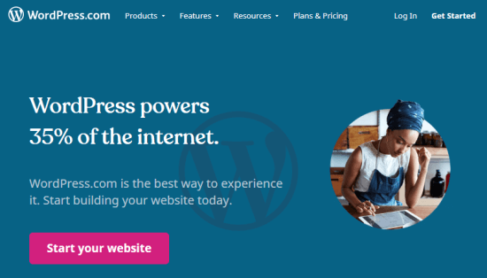 The WordPress.com website builder