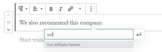 Trovare il tuo link di affiliazione cercandolo