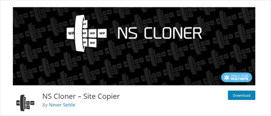 O plugin NS Cloner para WordPress