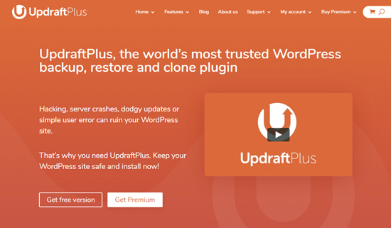 O plugin UpdraftPlus Premium para WordPress