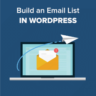 How to Build an Email List in WordPress