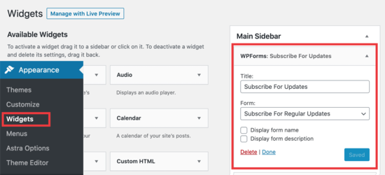 Put a Constant Contact form in your sidebar