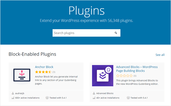 Official WordPress plugins page