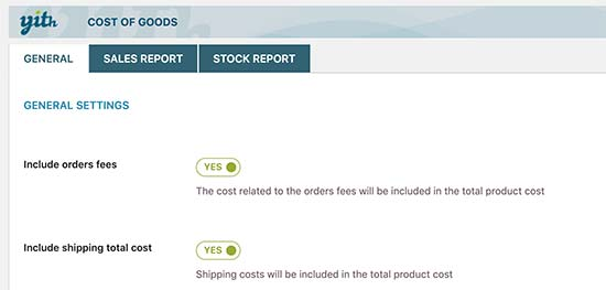 WooCommerce Cost of Goods