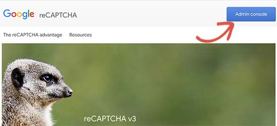 reCAPTCHA-beheerconsole
