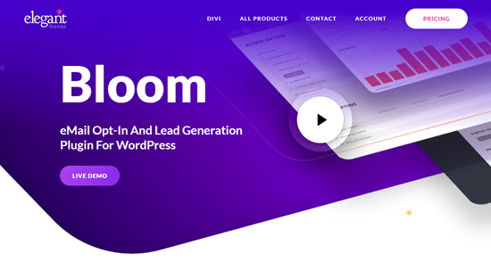 The Bloom plugin on Elegant Themes' website