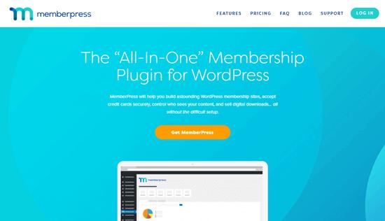 Le site web de MemberPress