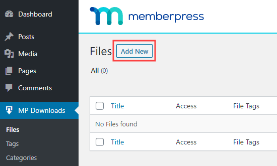 Adding a new downloadable file in MemberPress