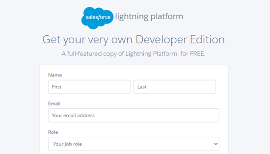 Sign up for a Salesforce account (Developer version)