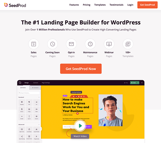 SeedProd Page Builder
