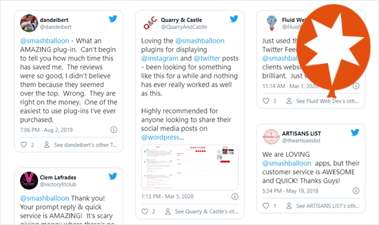 Custom Twitter Review Feed - Smash Balloon