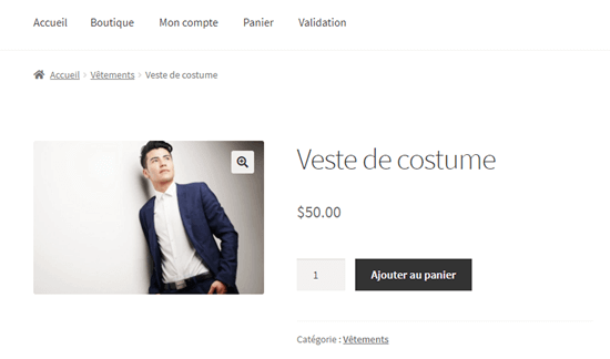 Viewing the translated page on your WooCommerce site