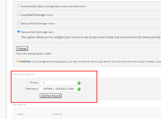 MX kaydınızı SiteGround'a ekleme