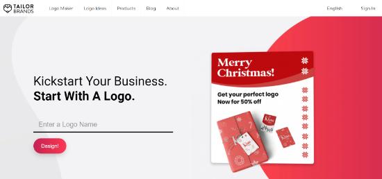 tailor brands custom logo for wordpress