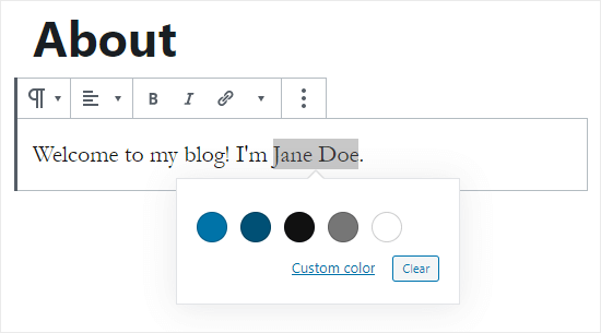 Choose the text color for your highlighted word(s)